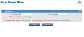 Cargo Claim Filing tutorial screenshot