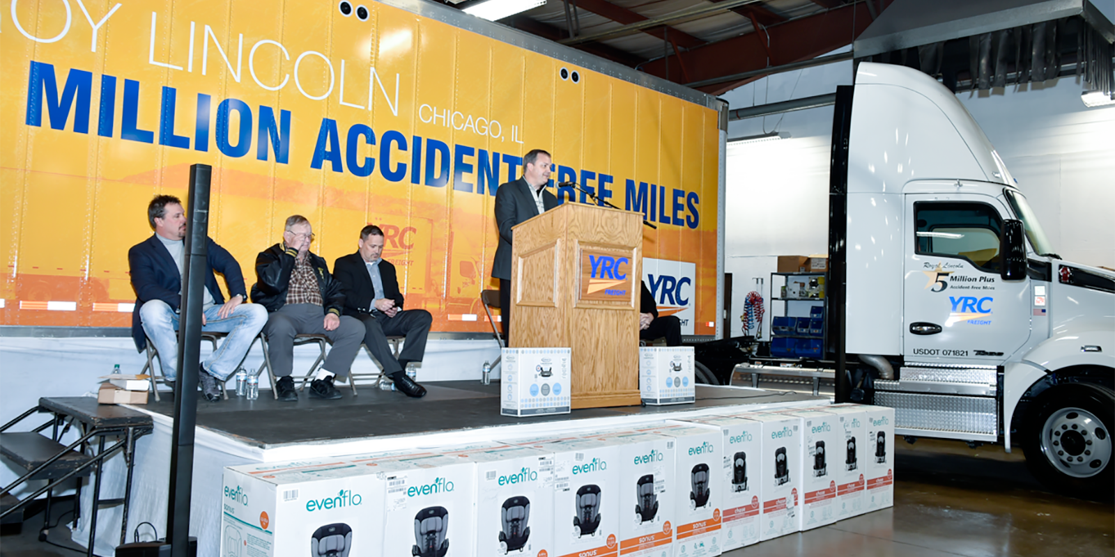 Roy Lincoln celebrated for 5 million accident free miles