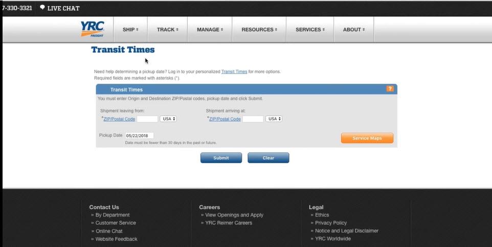 Transit Times Tutorial screenshot