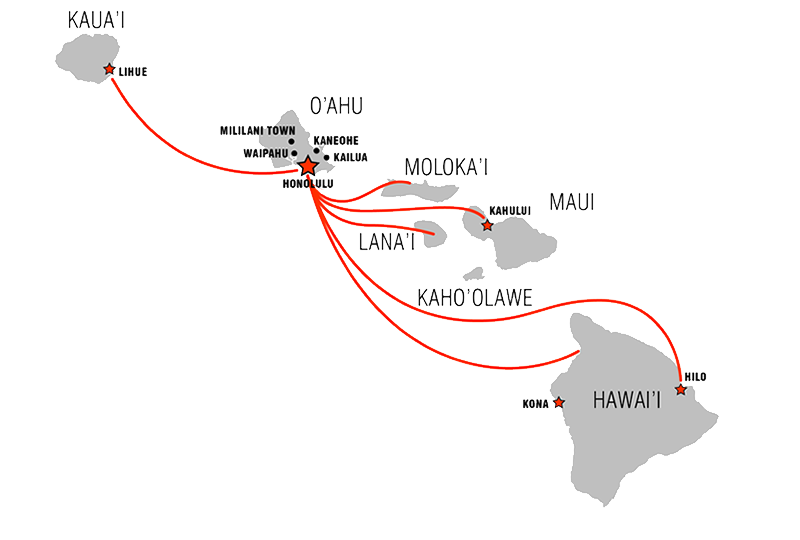 Hawaii Route Map